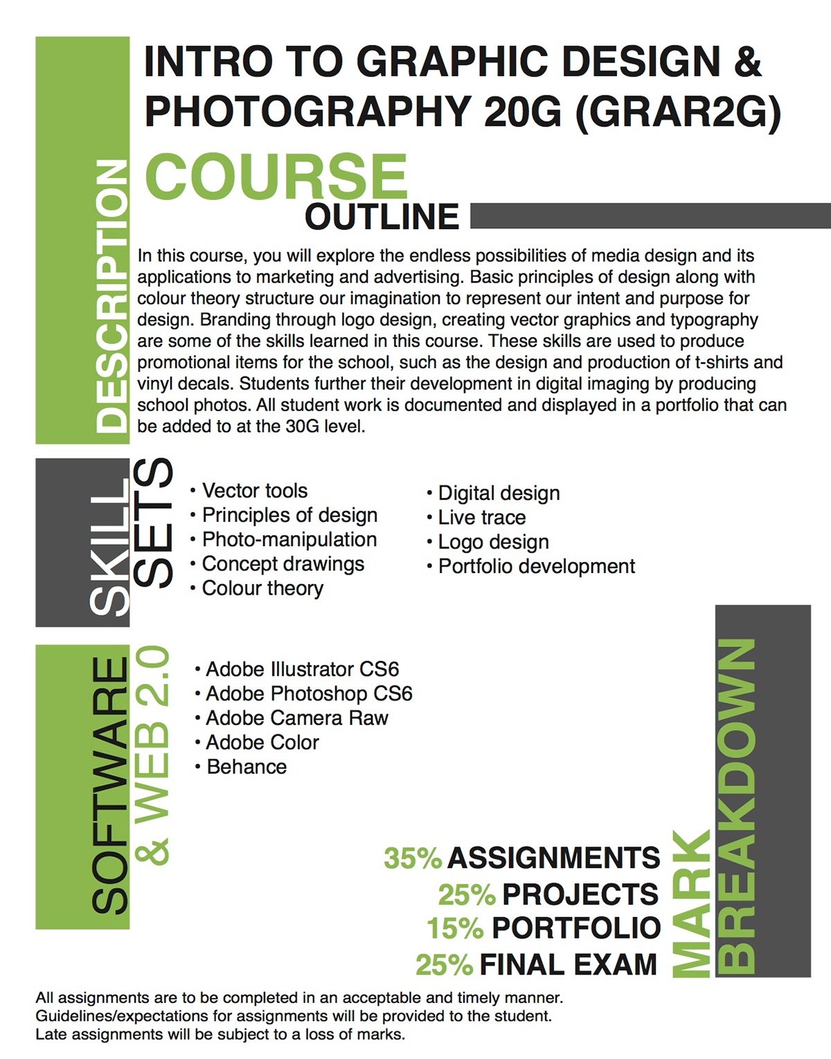 course outline for graphic design