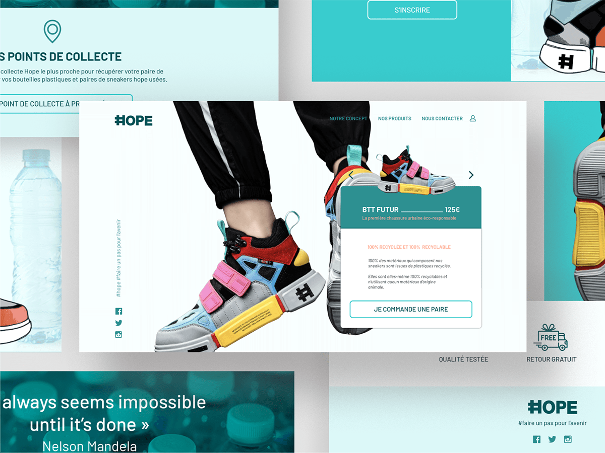 brand Ecology green sneakers ux-ui Webdesign