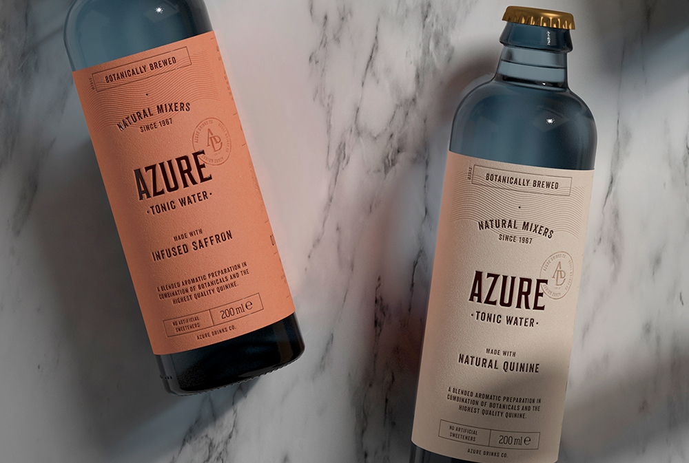 Packaging design tonic water 3D Branding drinks