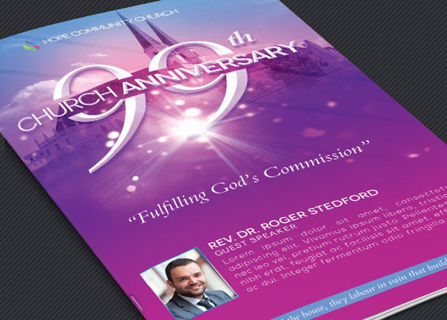Church celebration program template on behance maxwellsz