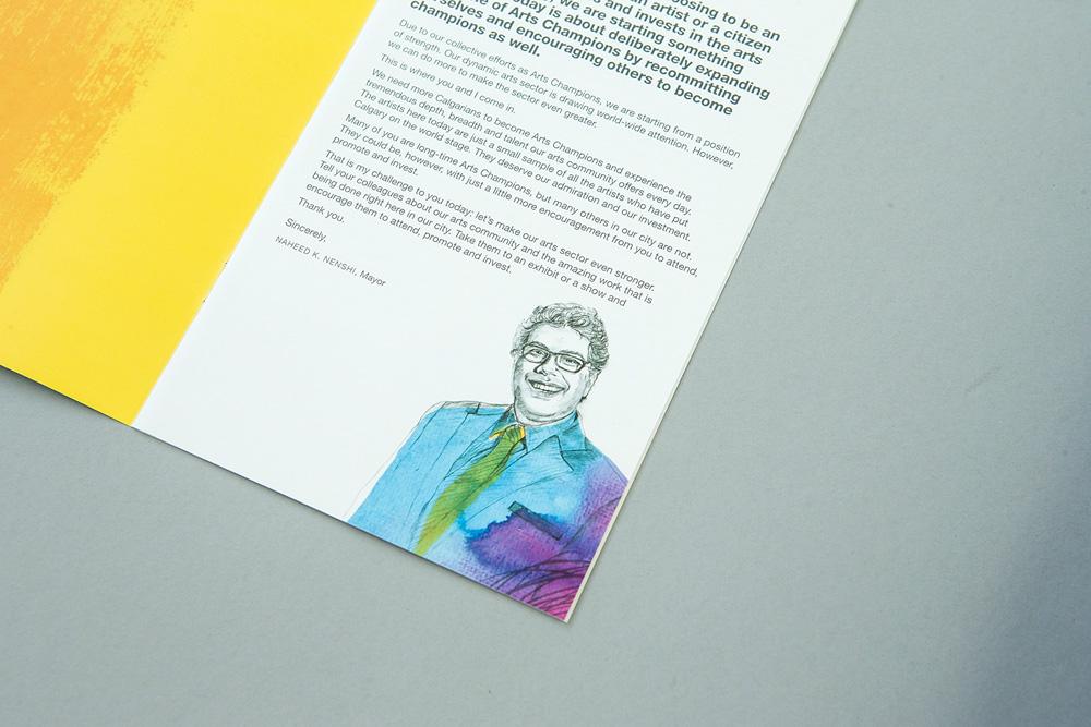 Adobe Portfolio montage Illustrating Calgary Mayor's Lunch fundraiser