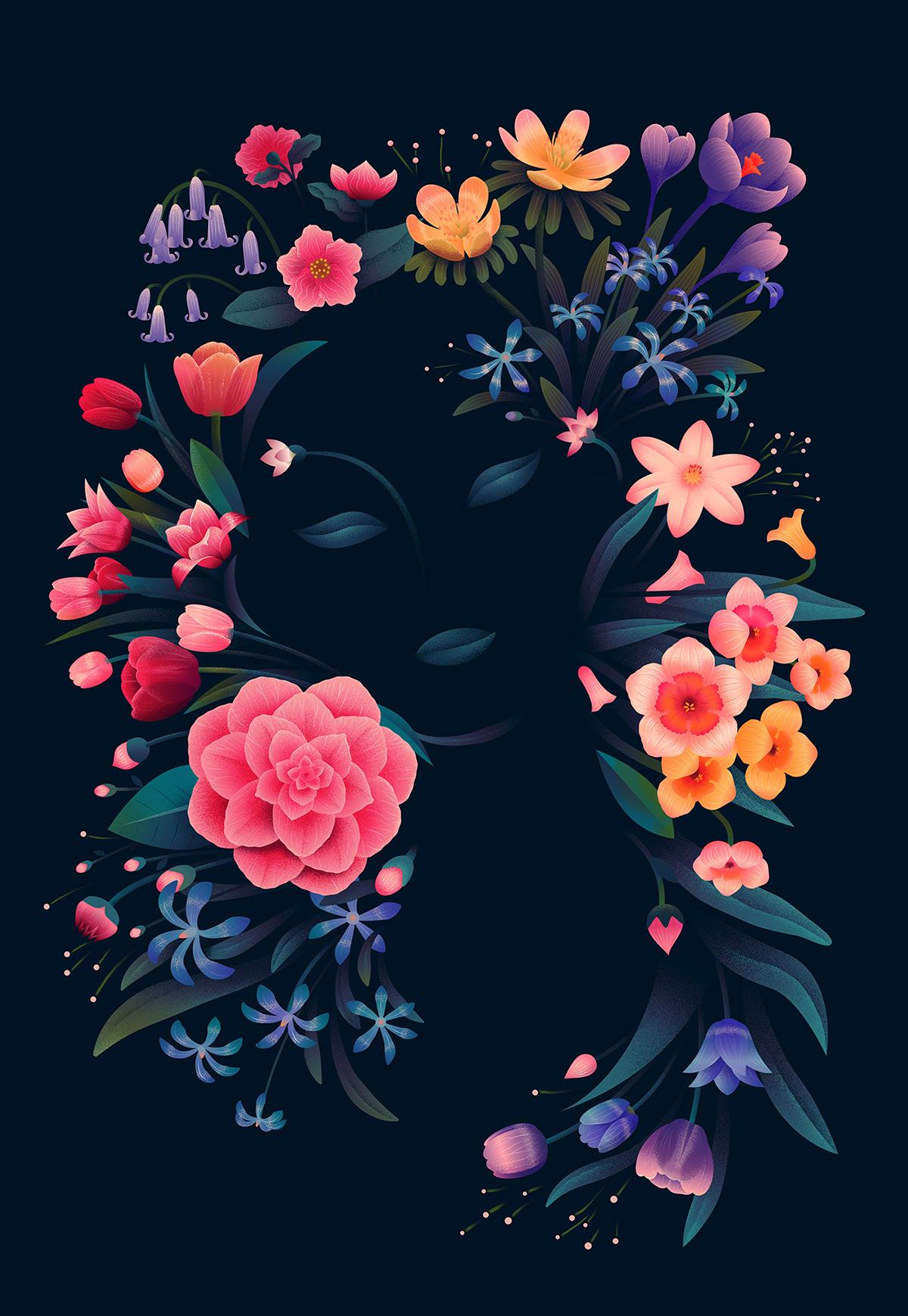 animal animals book cover editorial floral ILLUSTRATION  newyorktimes   skull washingtonpost