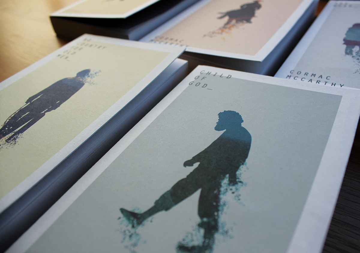 Cormac McCarthy books book covers Book Series novels the road Child Of God no country for Old men fiction Author print