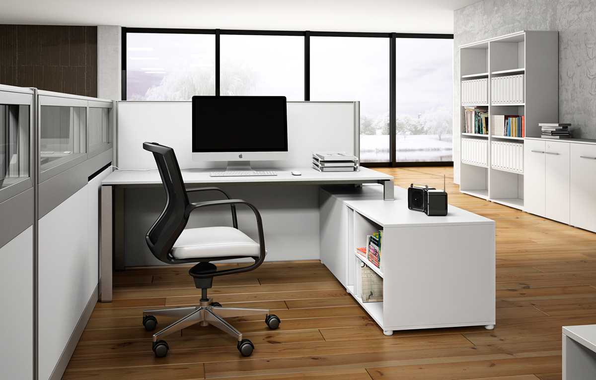Cgi Office Furniture Panel And Desking System On Behance