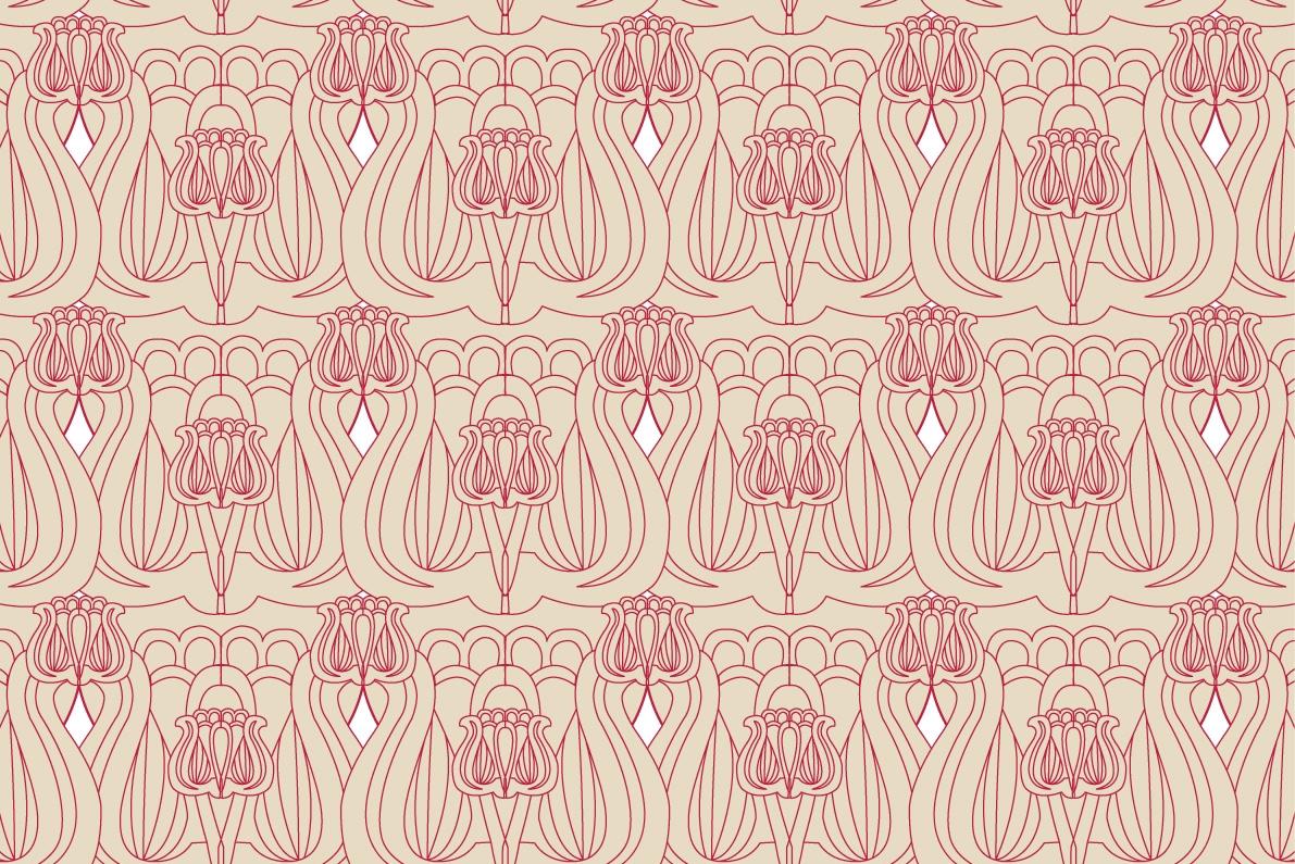 pattern tulips ornament hungarian folk motif