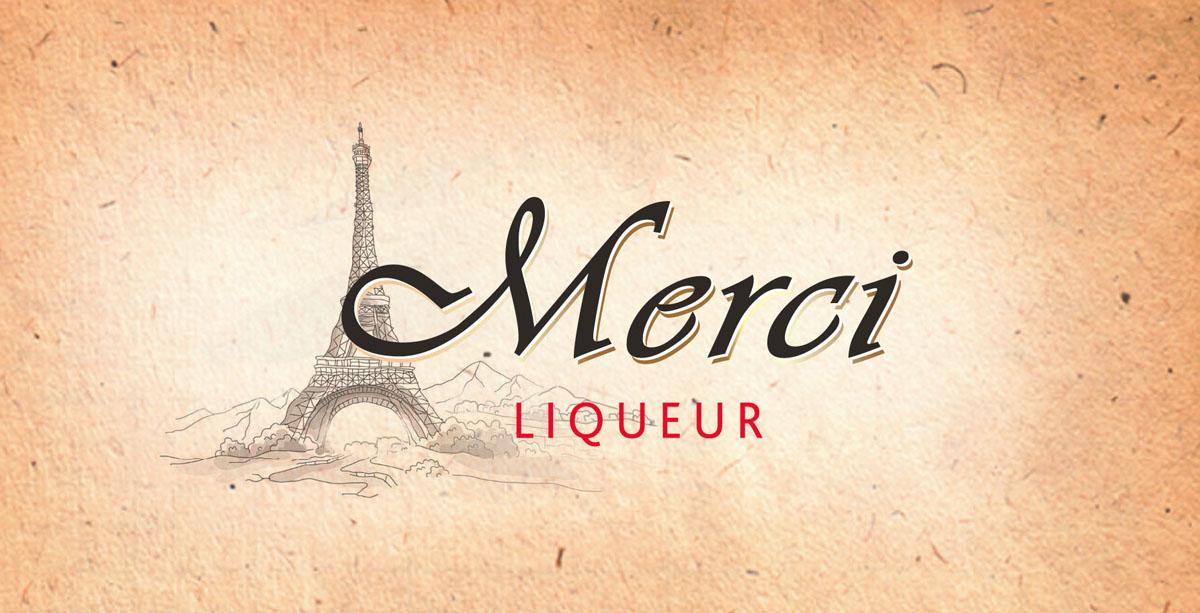 Label liquer design bottle