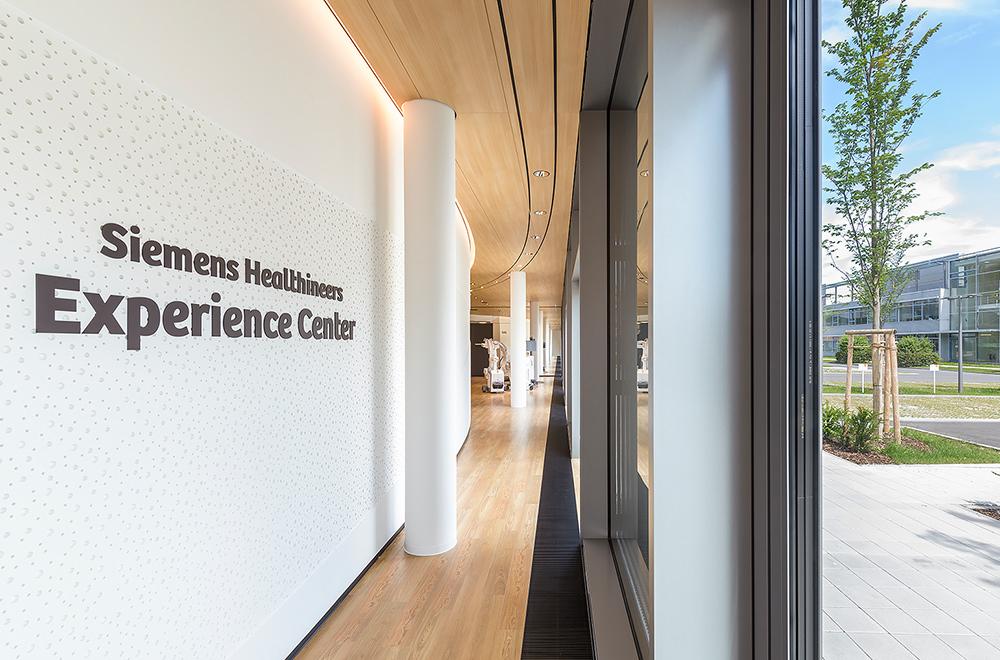 showroom Health Siemens Mutabor orange Interface Space