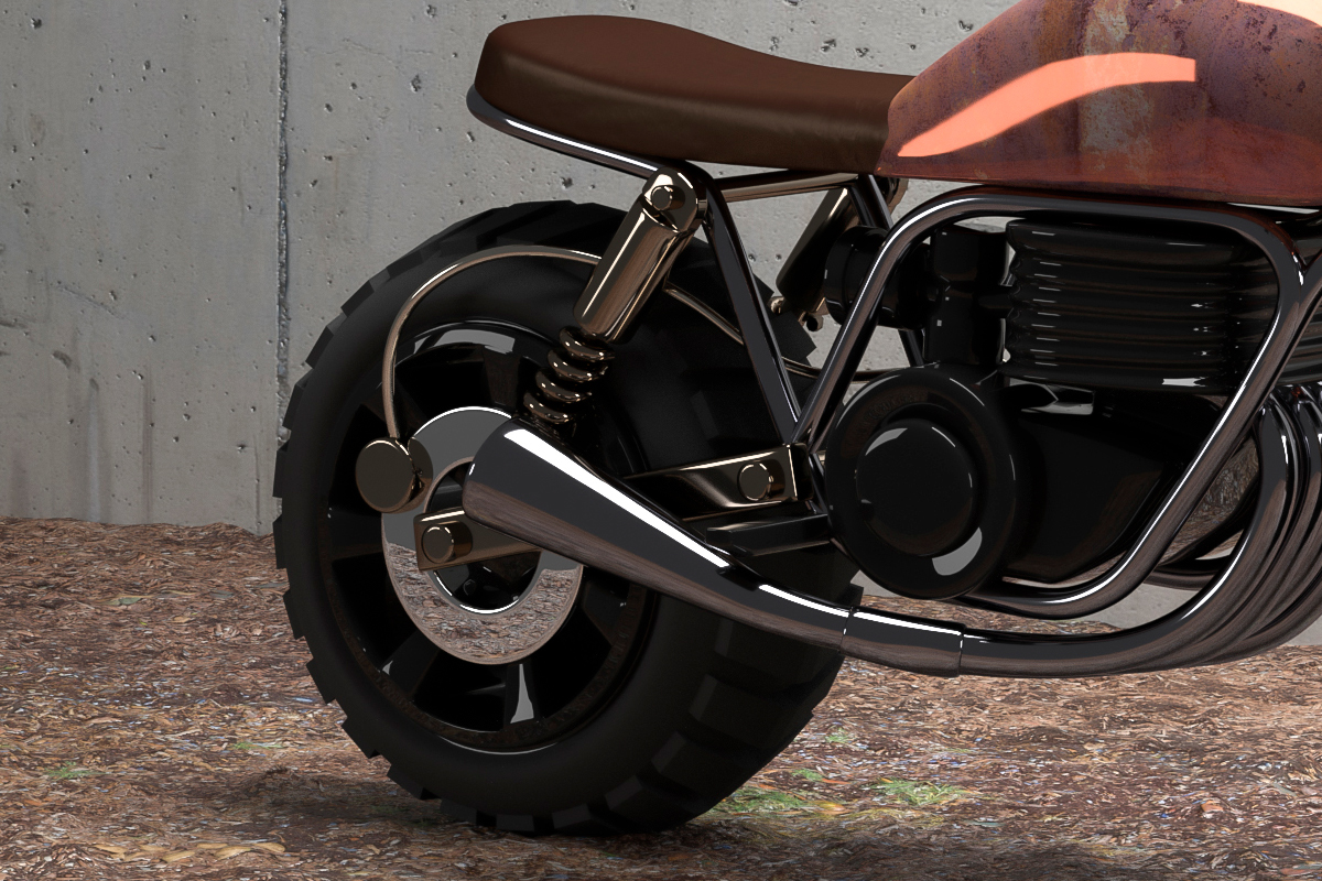 motorcycle,tracker,3D,dirt