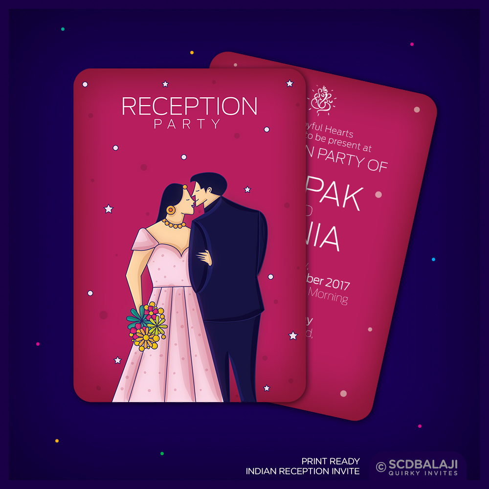 Contemporary indian wedding invite package on behance indian wedding invite size a5 front back card card cover gsm 300 cover card lamination glossy lamination rs 50 per card rs 20 per cover stopboris Choice Image