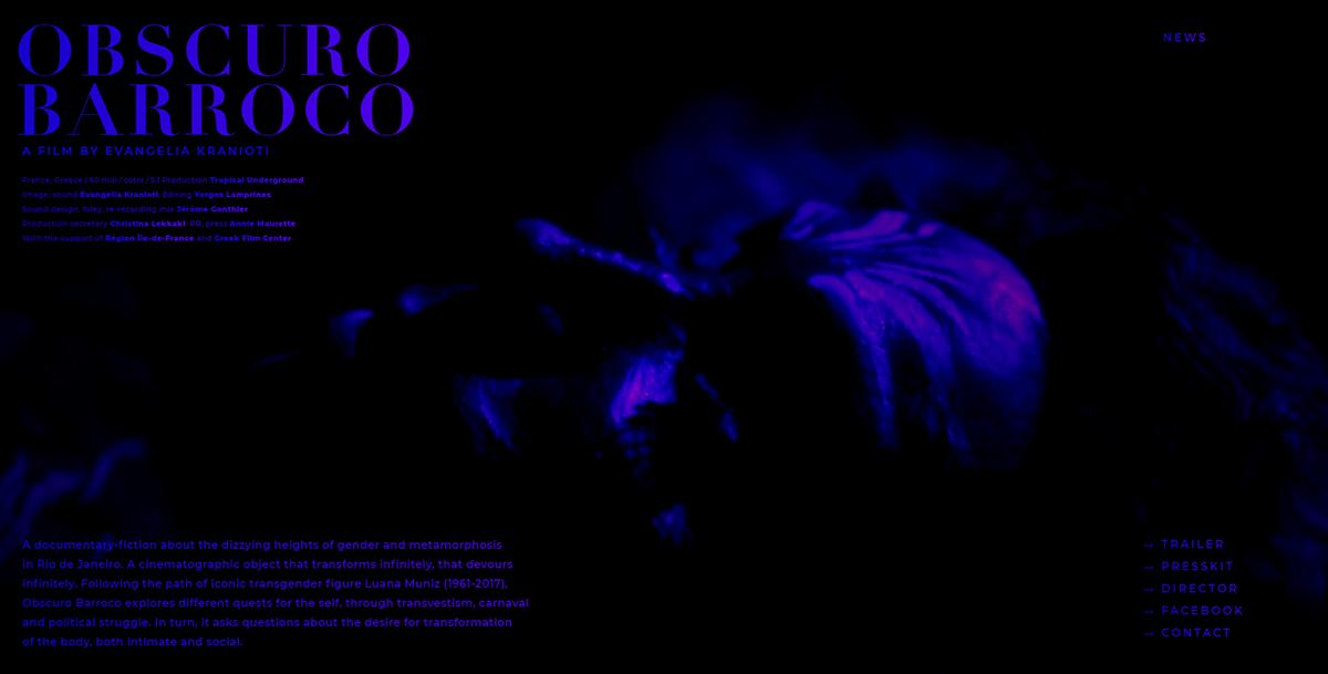 Brazil Webdesign Documentary  showcase Movies Cinema video background