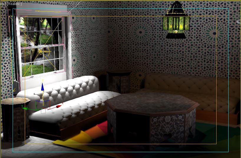 3D Modern Moroccan Living Room