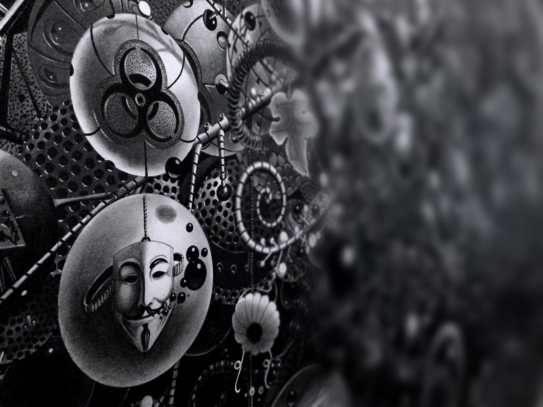 Samuel Gomez surrealism graphite dreams black & white entanglements samuelgomezart CO2