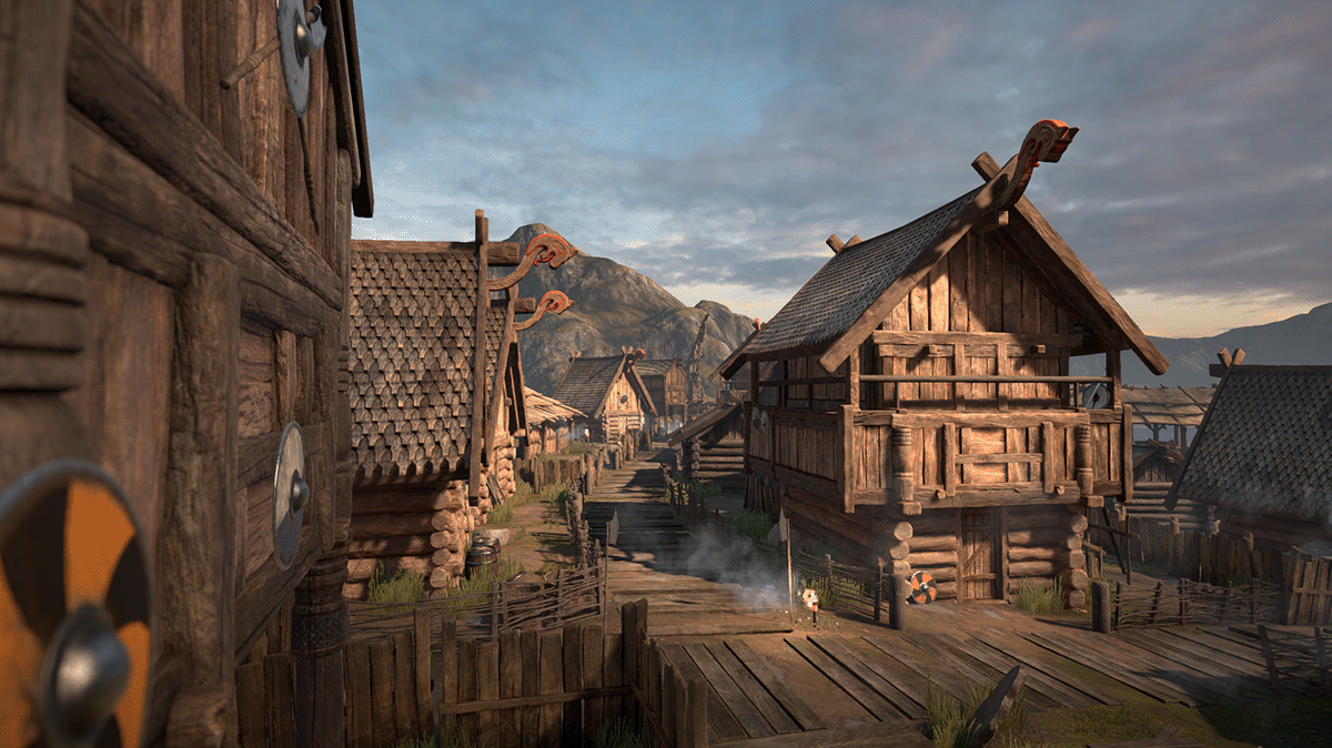 composition fmod foley mixing music Sound Design  sound engineer unity video game viking village
