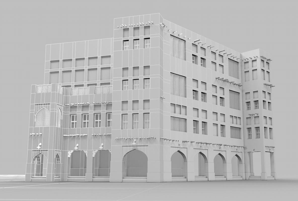 CGI modelling 3D Uv mapping visualisation building