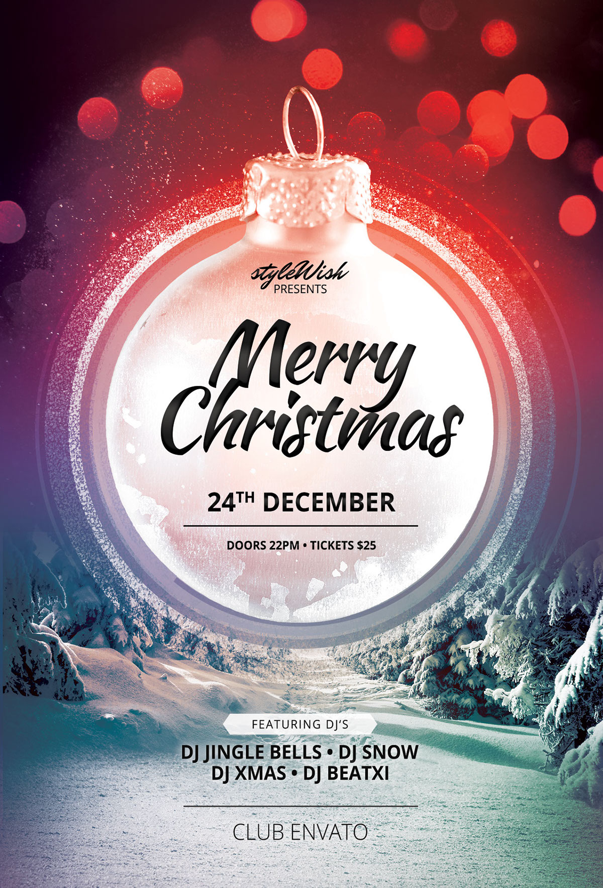 merry christmas flyer template on behance