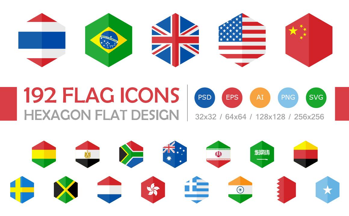 185 WORLD FLAGS HEXAGON DESIGN on Behance
