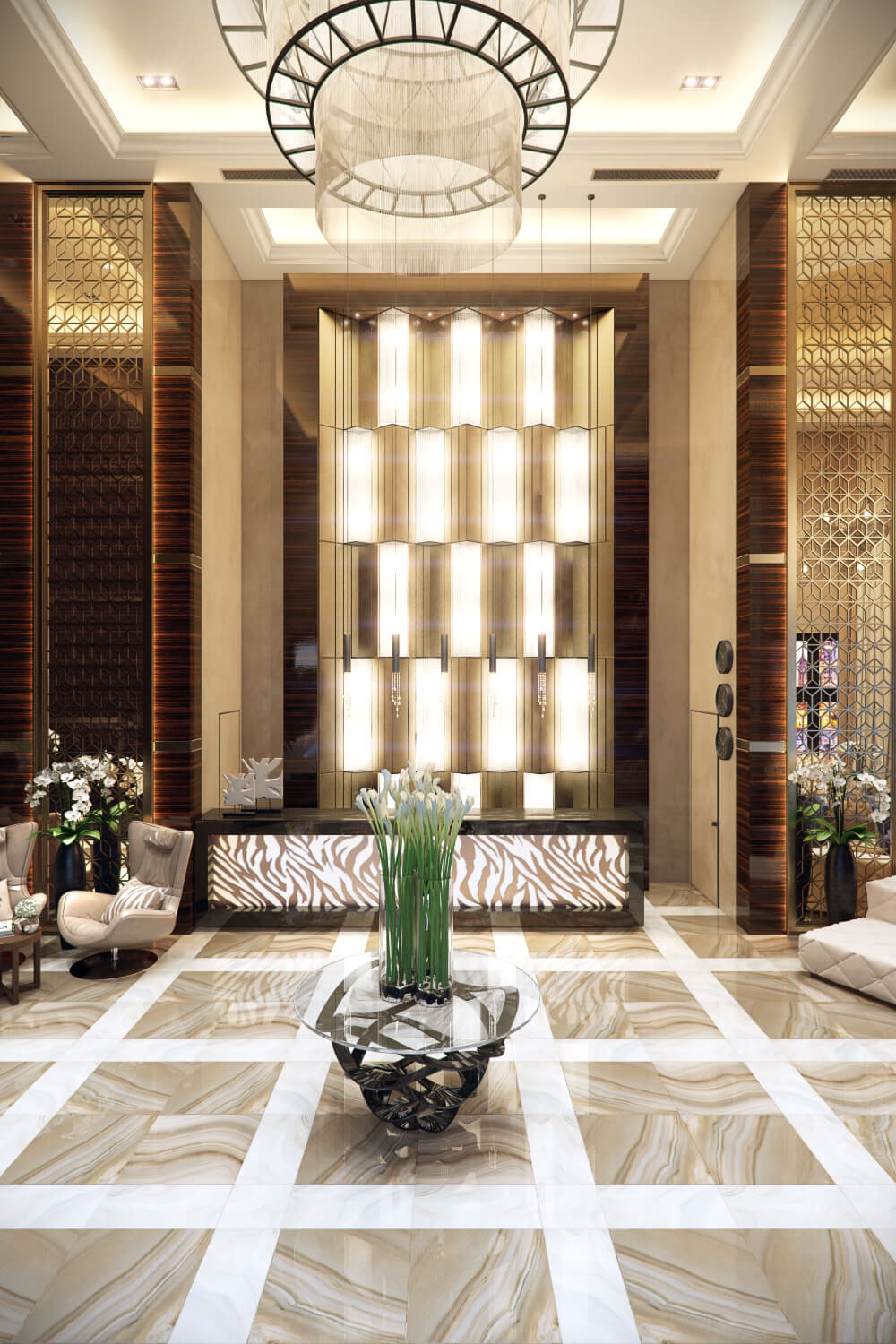 Interior Design Rendering for a Sublime Hotel Lobby on Behance