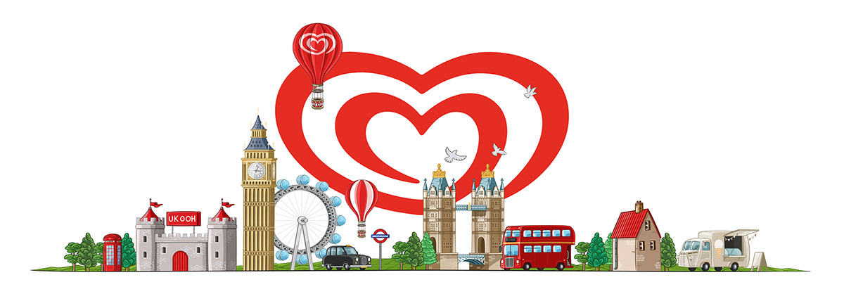 art branding  concept doodle england ILLUSTRATION  logo Photography  Wall's Ice Cream digital photography
