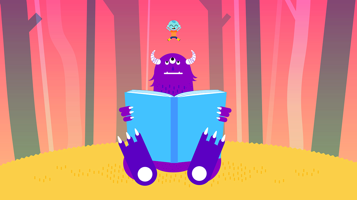 Christmas present moon monster gifts imagination fantasy read books children