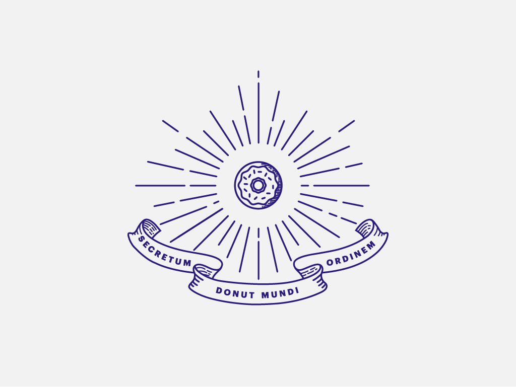 secret donut society illuminati iconography vintage