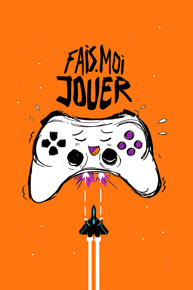 ARTE Creative poster objects tv show video game jostick