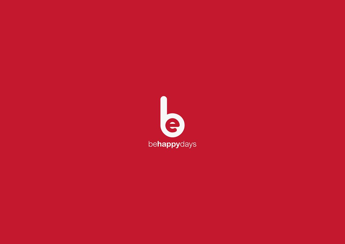 brand branding  Logotype logo behappydays murcia design graphic design  red be