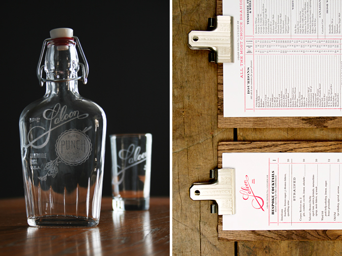 Whiskey Davis Square restaurant ma boston bar Liqueur identity logo menu flask  shot glass etching pre prohibition