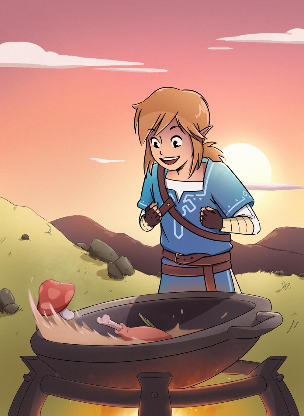 Link Zelda Botw On Behance