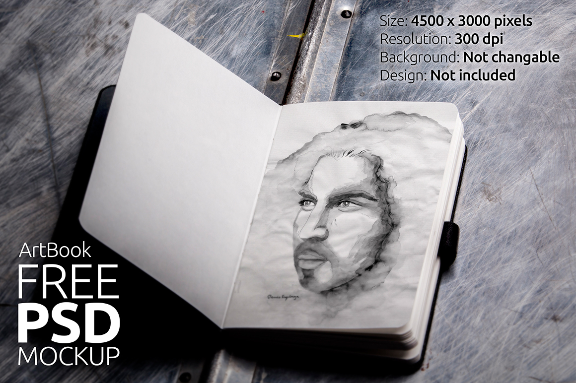 Free Mock-Up Sketch book Photorealistic 01 on Behance