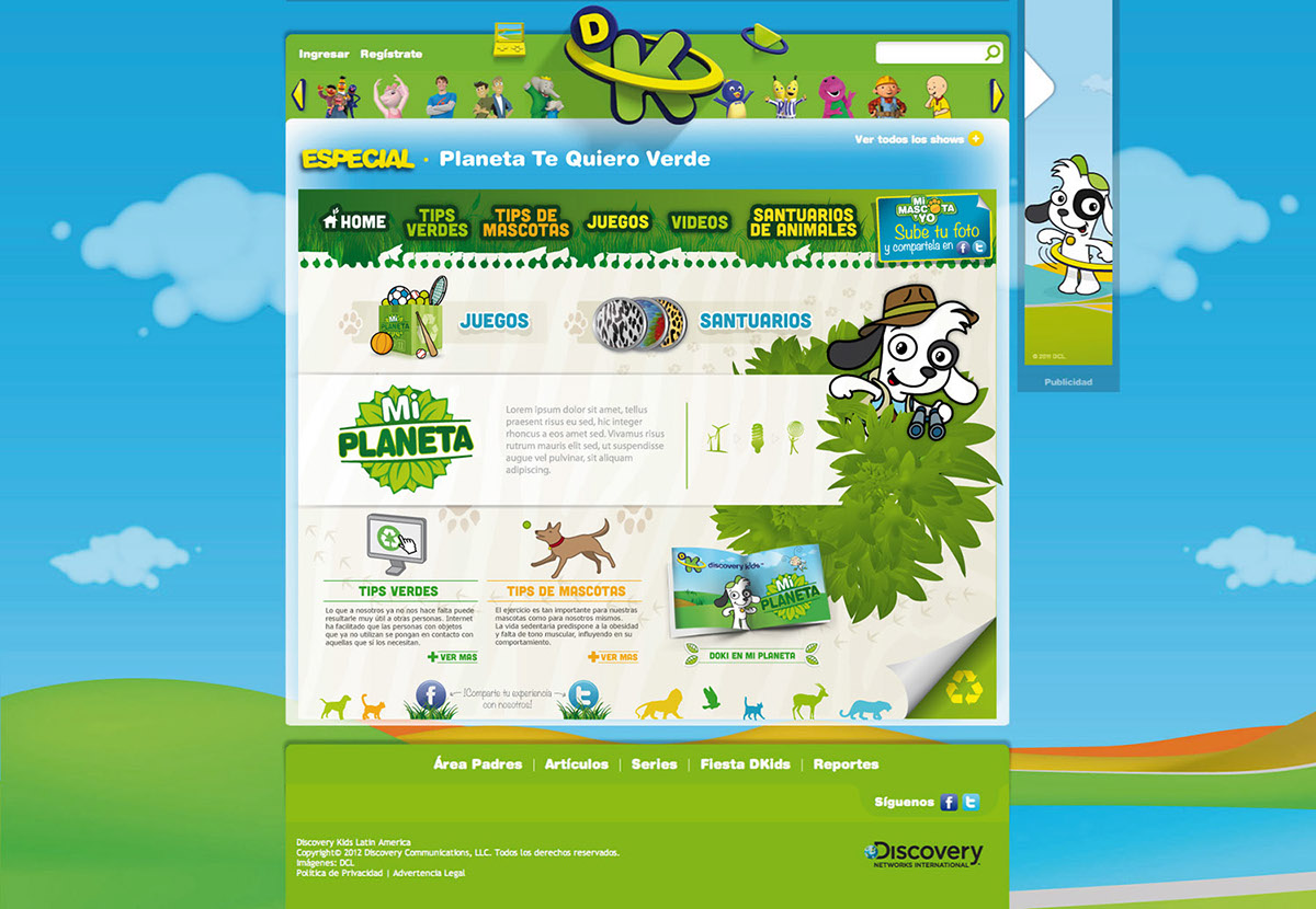 Mi Planeta For Discovery Kids On Behance
