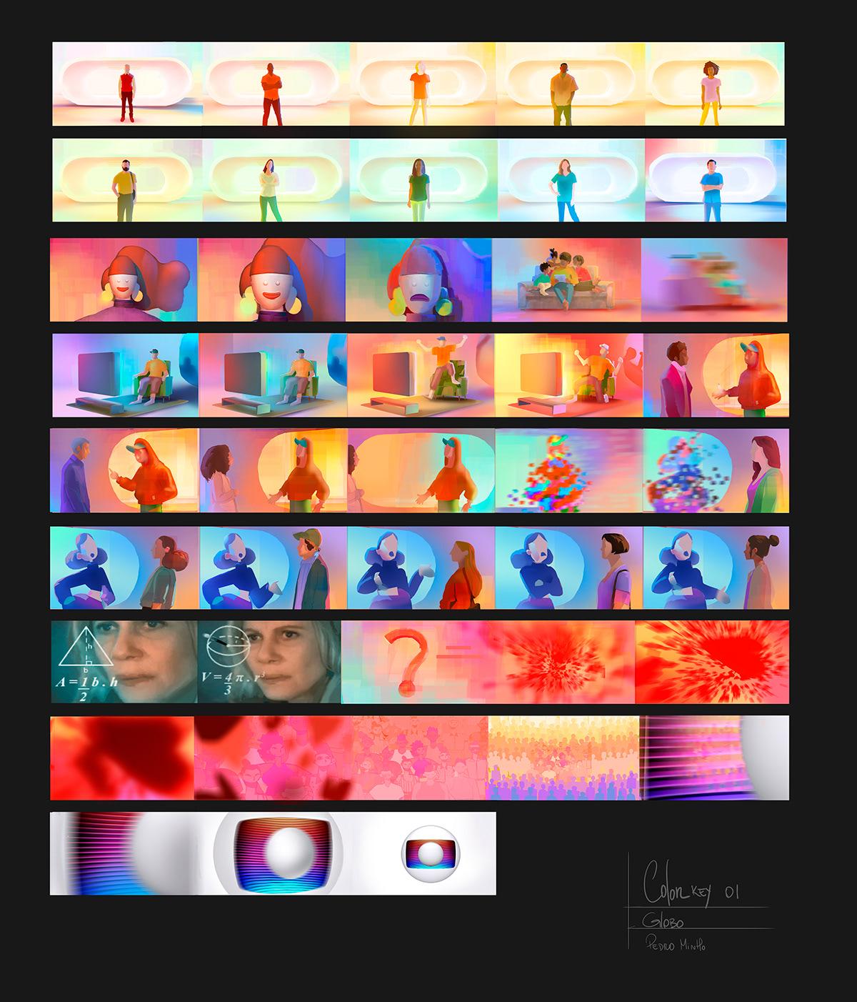 3D animation  Character design  color design Globo mixed media personagem Pixelation stop motion