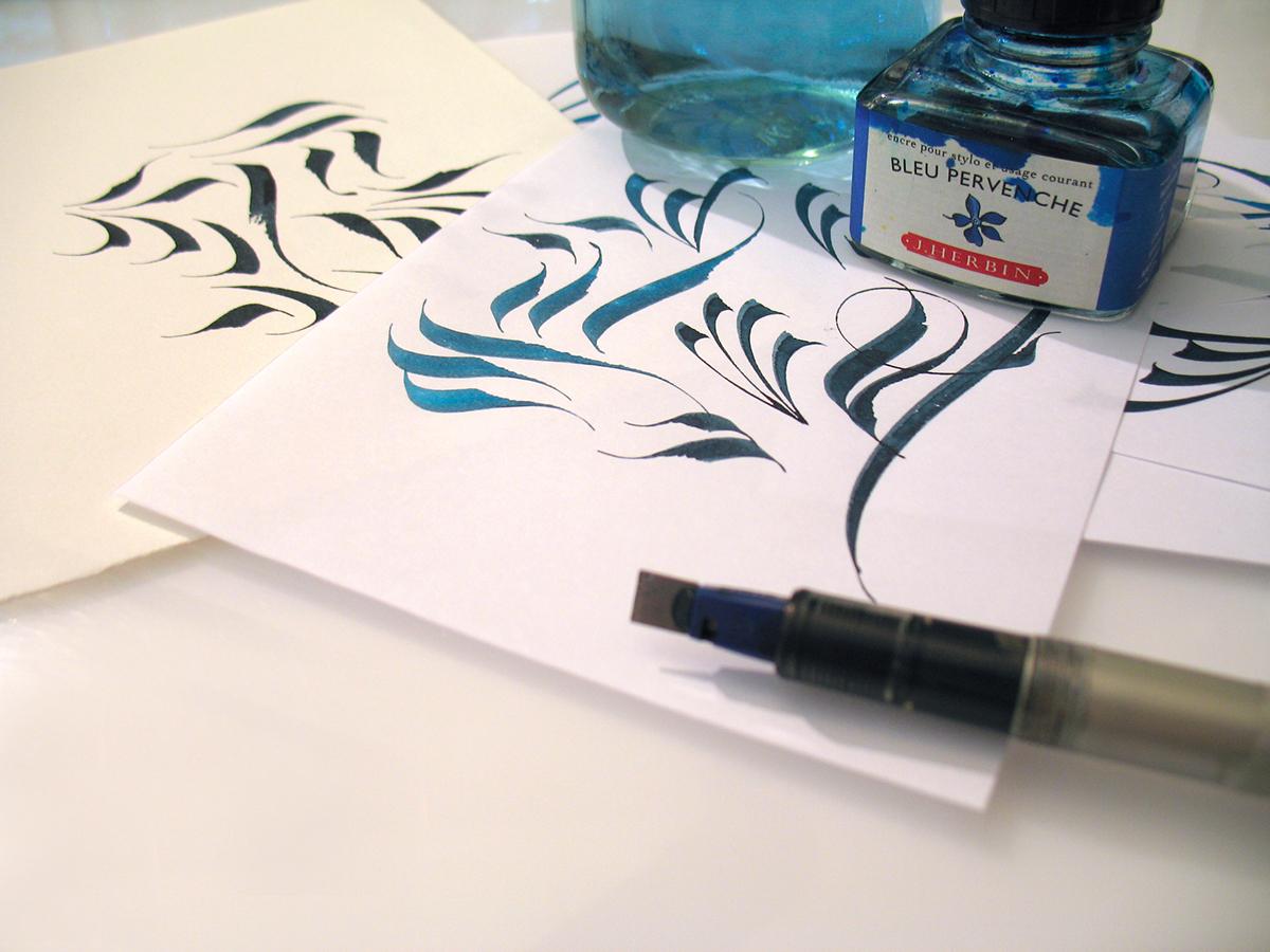Online Calligraphy Class: Organic Pen Ornaments