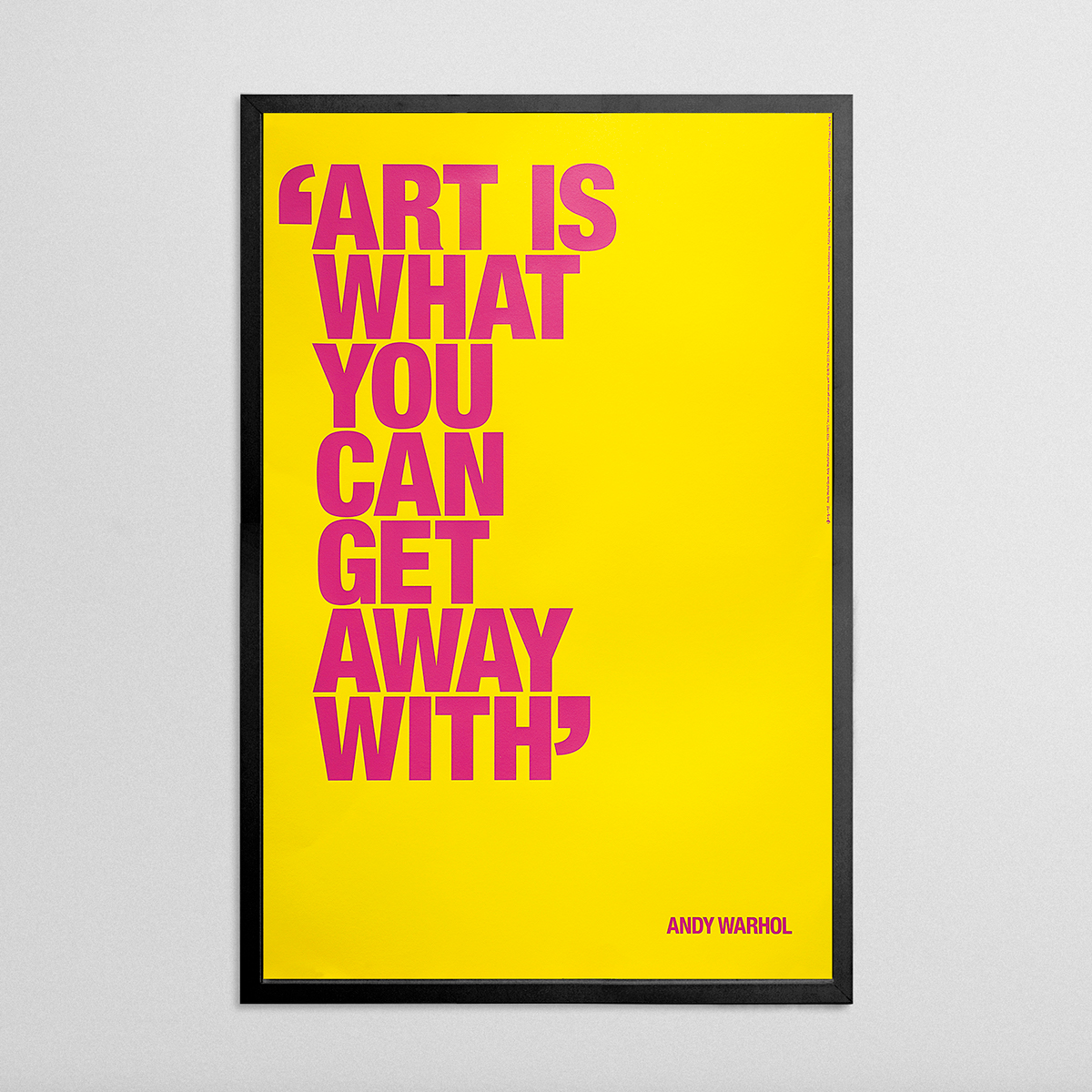andy warhol foundation quote series screen prints on behance