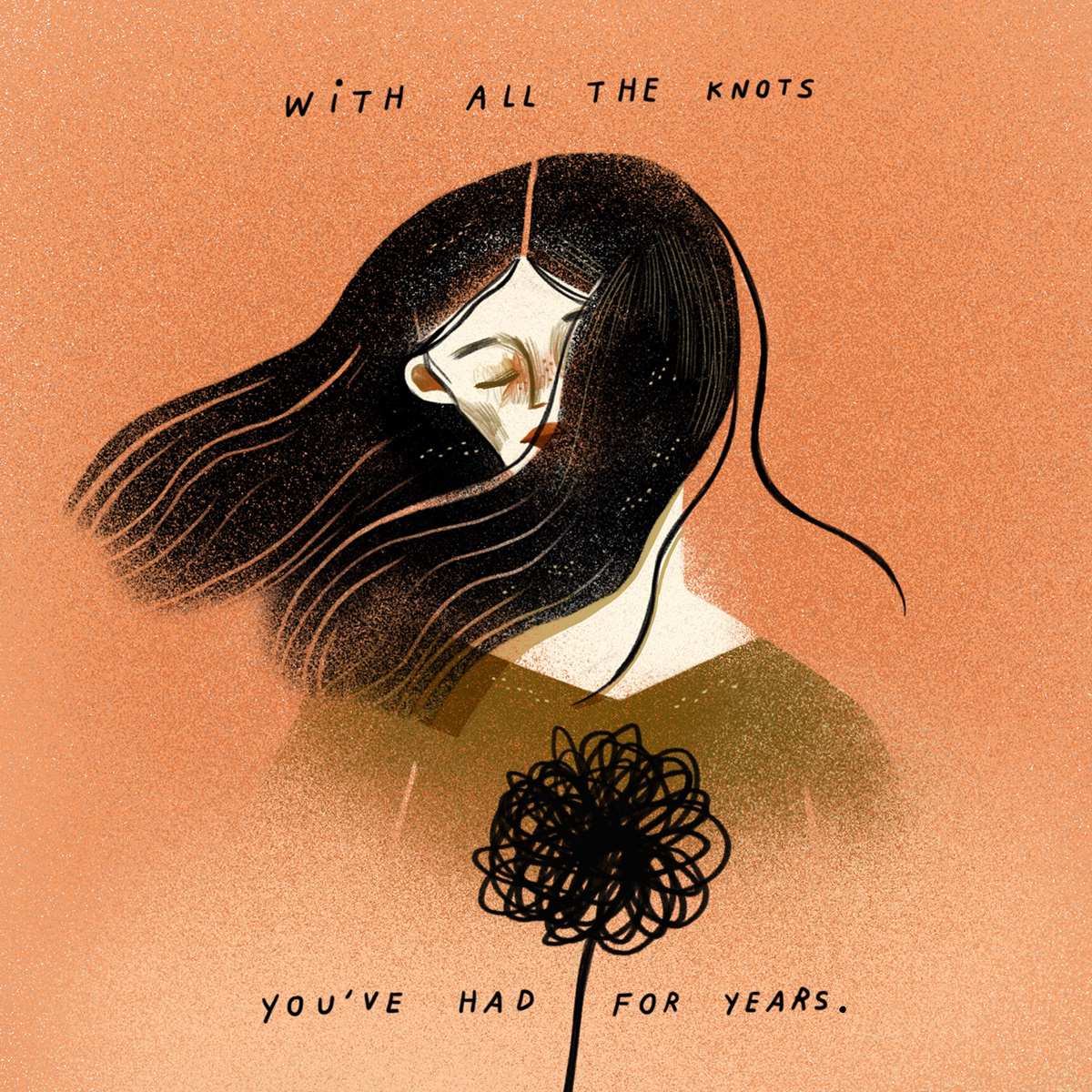 illustrated poem Personal Illustration poem Poetry  sweater