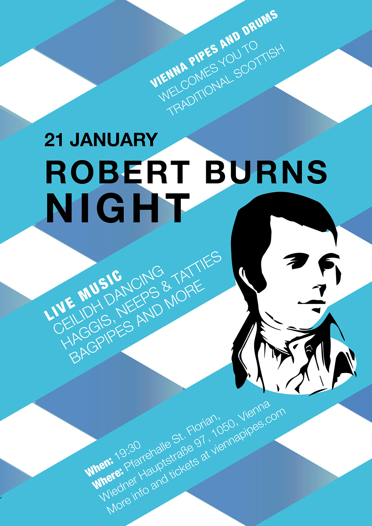Robert Burns Night. Event Poster on Behance
