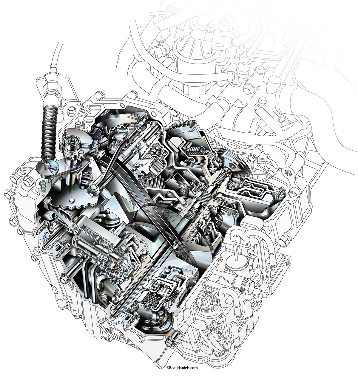 Car Transmission Illustrations On Behance