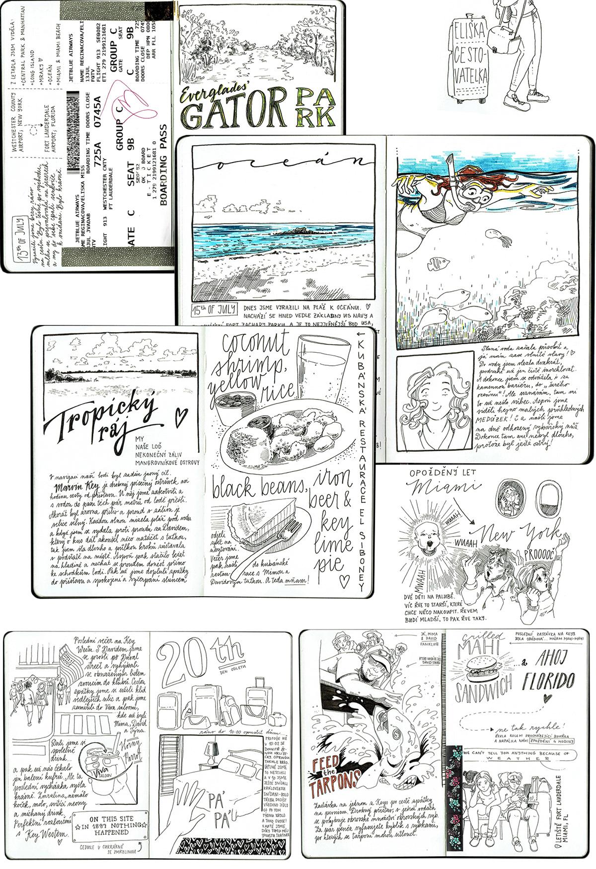 sketchbook usa sketch sketching Diary travel sketch ink lettering crosschatching Travel