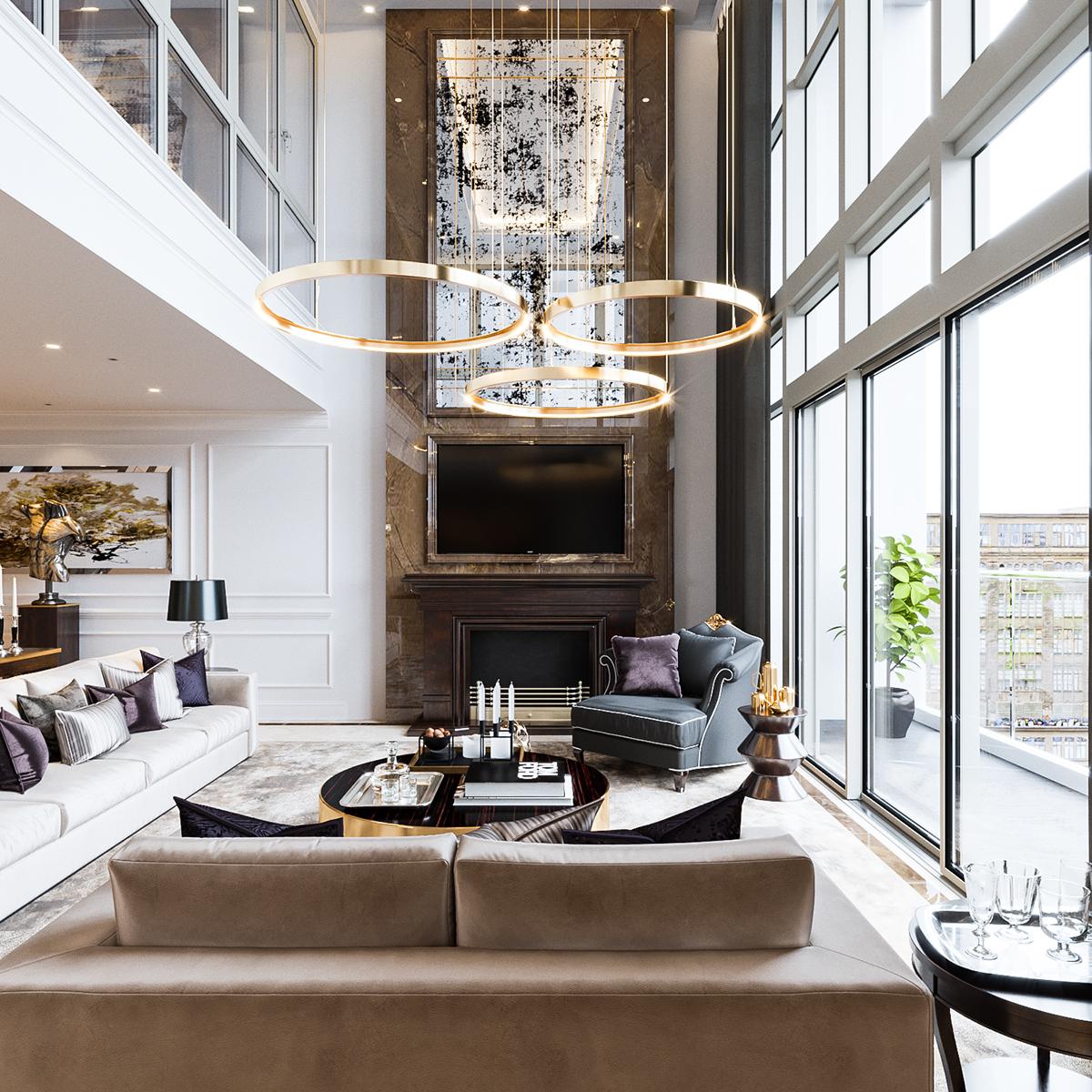 Mandarin Duplex apartment on Behance