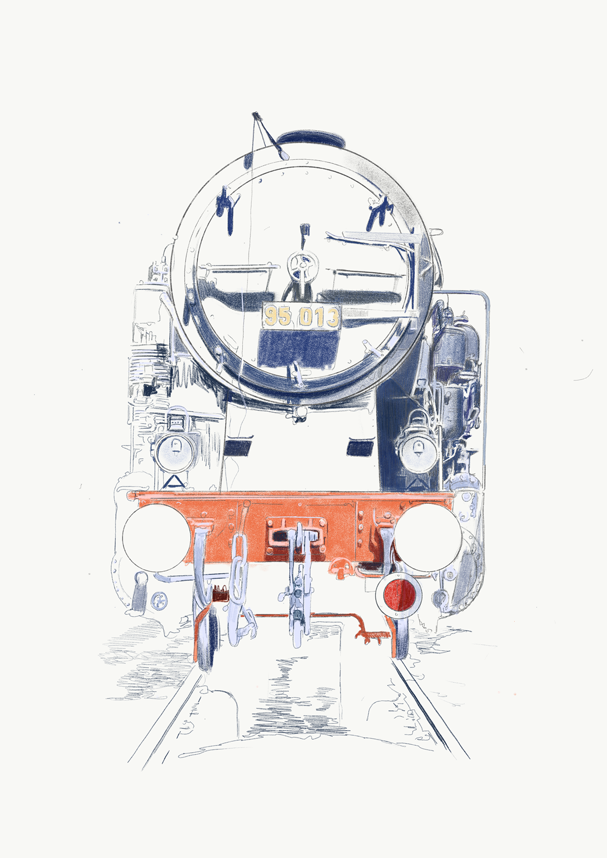 Portrait of German Steam Engine Class 95 on Behance