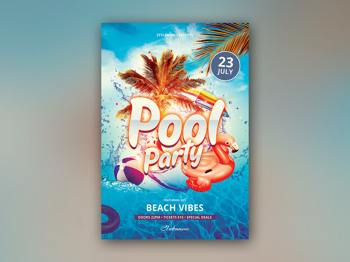 pool party flyer psd pool party flyer on behance