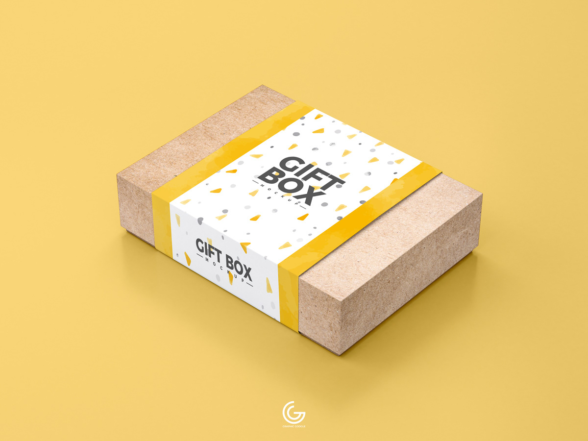 Free Craft Paper Gift Box Mockup Psd 2018 On Behance