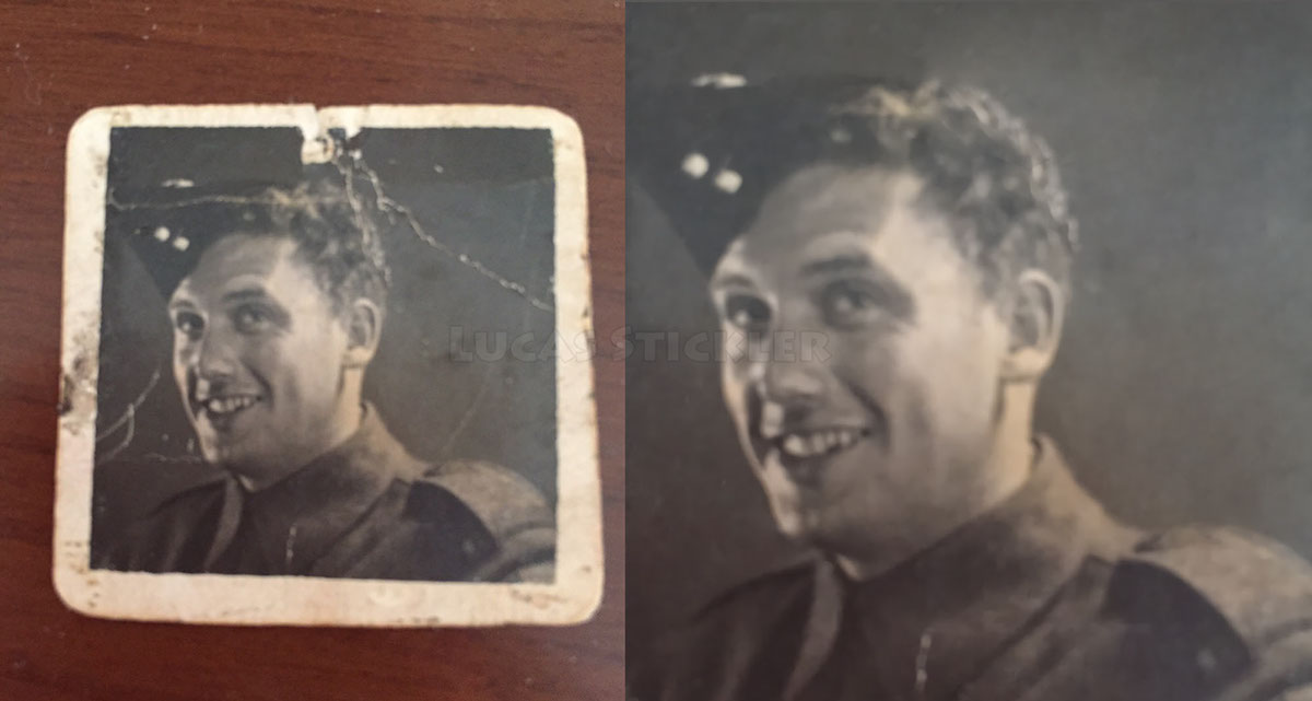 photoshop request photoshop wwii veteran retouching  damage removal