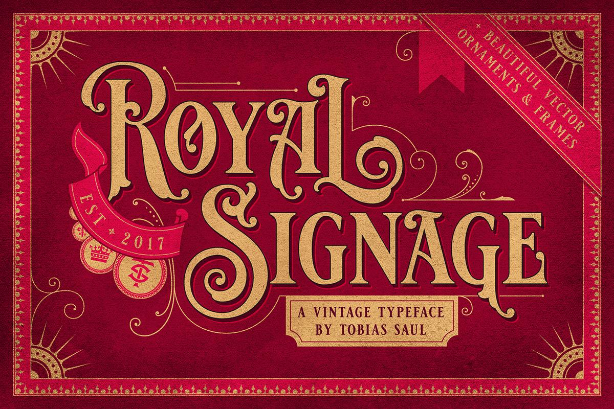 Royal Signage Font on Behance