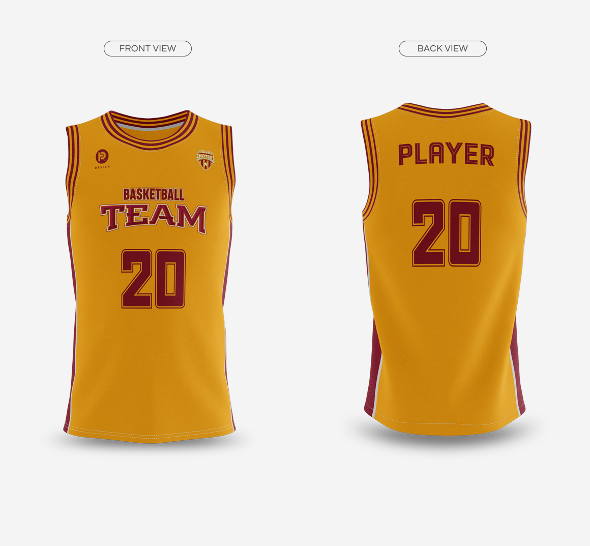 Download Basketball Jersey with Crew-Neck Mockup on Behance Free Mockups