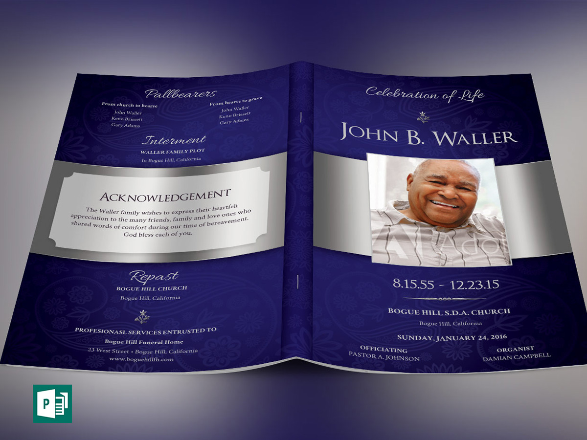 Dignity Funeral Program Publisher Template On Behance
