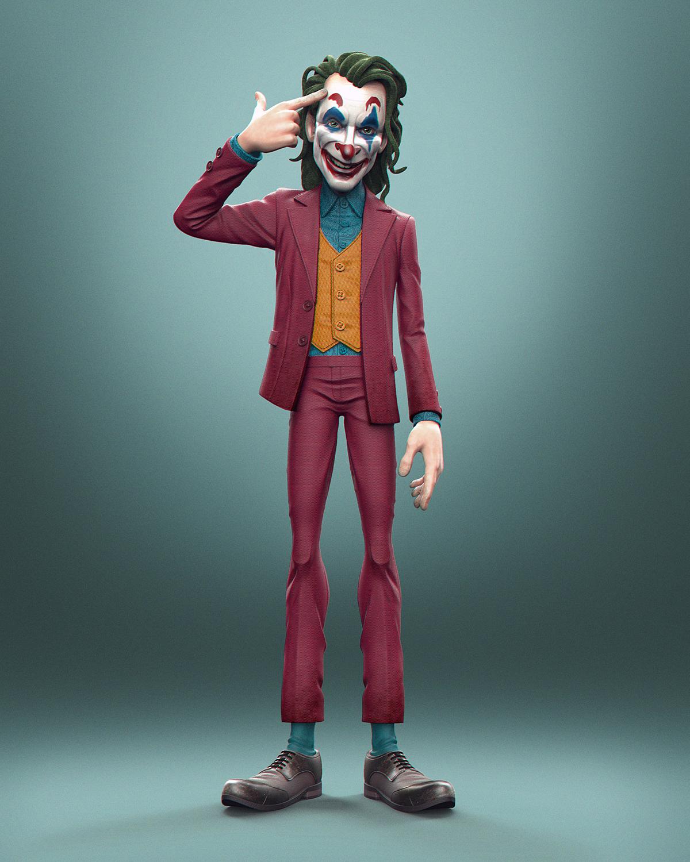 3D Characters - Cartoonish Look Superheroes and Villains