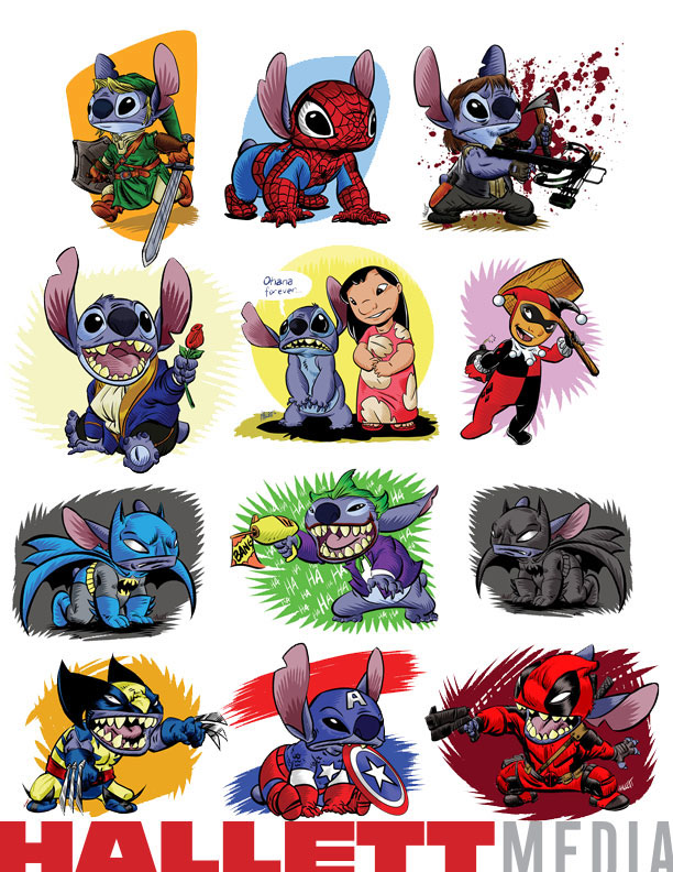 lilo stitch dressed pop characters convention fan art on behance