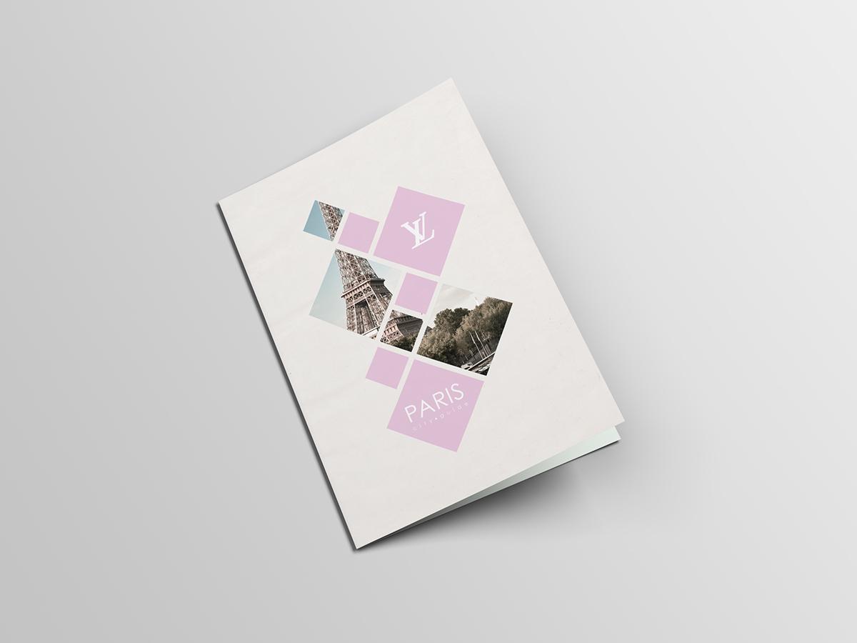 Louis vuitton  city guide  School work  squares Paris flat design fla Guide design Booklet