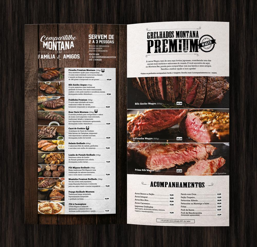 Cardápio | Montana Bar N' Grill on Behance
