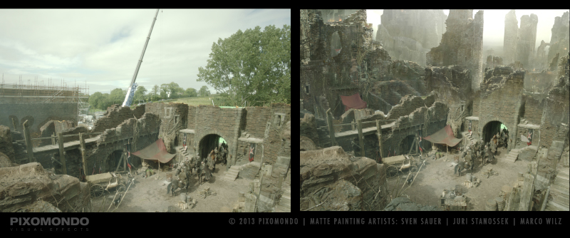 Game of Thrones. Sven Sauer matte paintings Mattepaintings vfx dragonstone Harrenhal Westeros Pixomondo